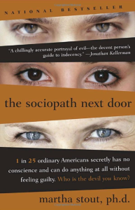 "Cover of ""The Sociopath Next Door"" by Martha Stout. Broadway Books, New York, 2005."